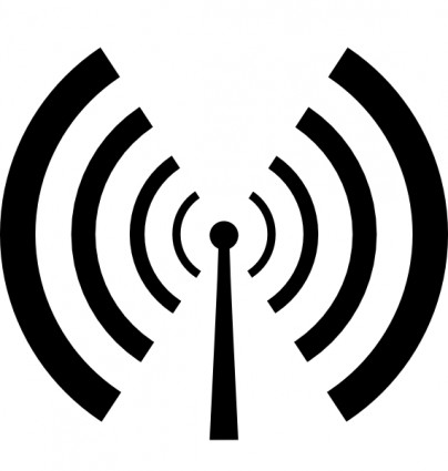 Radio Waves Black Clipart.