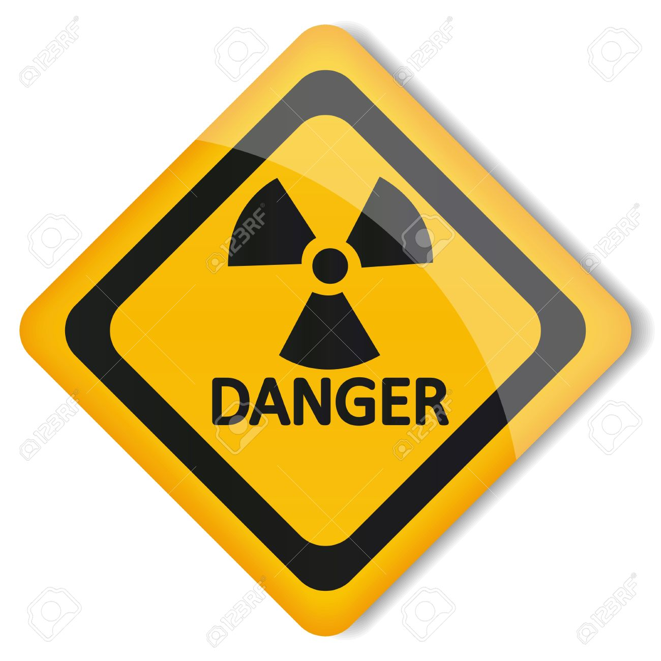 Illustration Label Radiation Hazard Royalty Free Cliparts, Vectors.