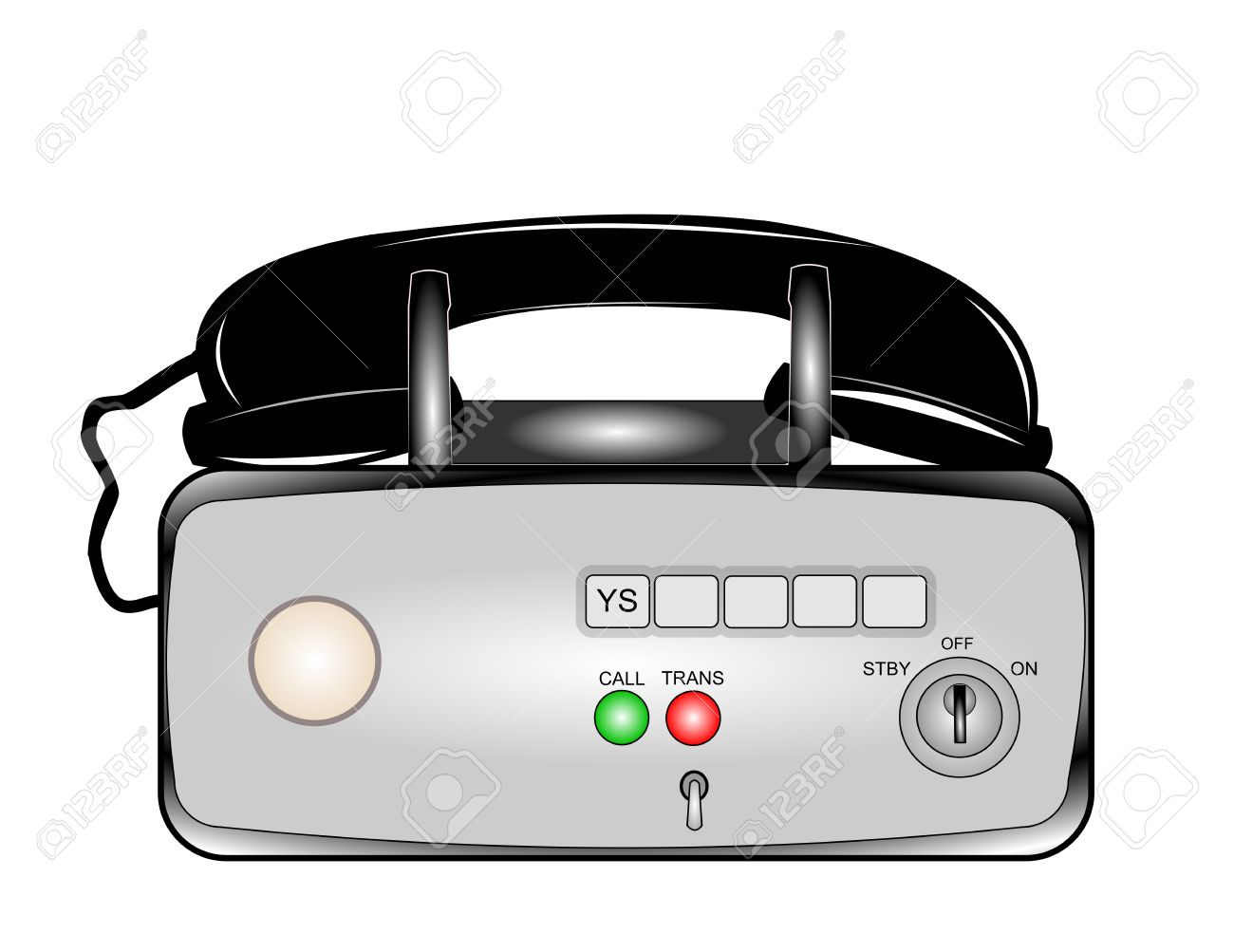 Old Mobile Radio Phone Royalty Free Cliparts, Vectors, And Stock.