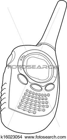 Drawings of Radio Phone Walkie Talkie k16023054.