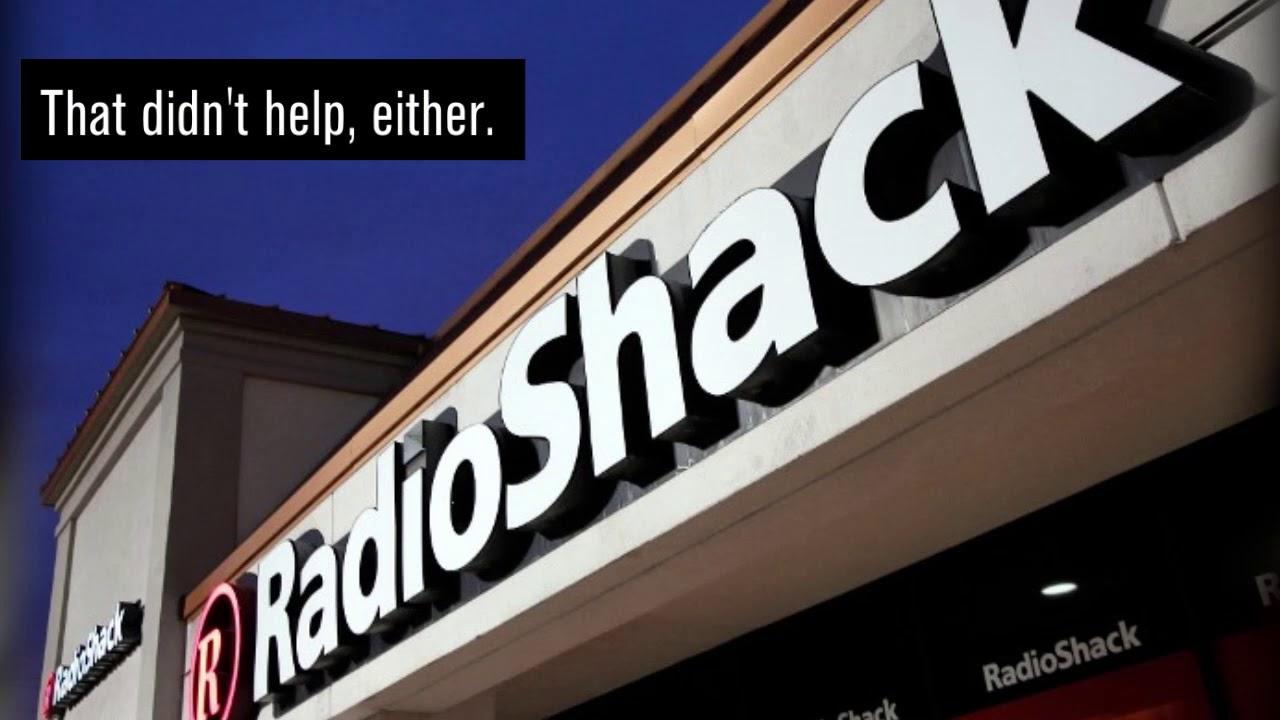 RadioShack files for bankruptcy protection for second time.