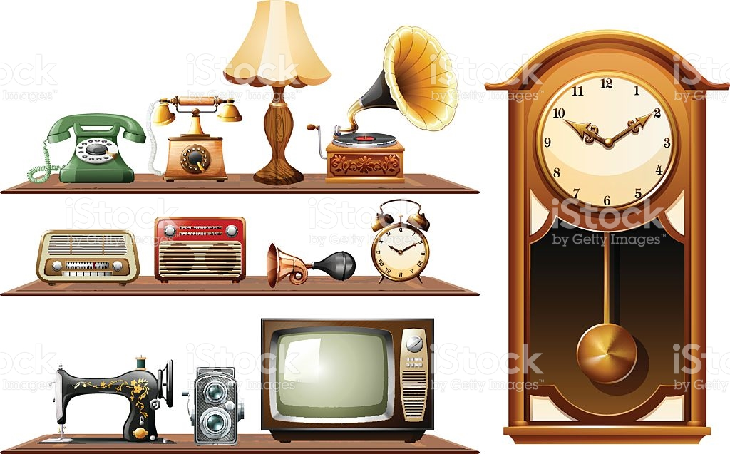Different Kind Of Vintage Objects stock vector art 517136044.