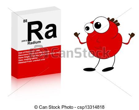 Clipart of radium symbol with happy chicken csp13314818.