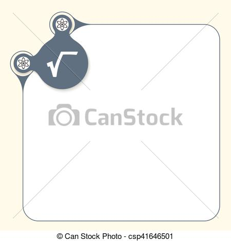 Vector Clipart of Vector box to fill your text and radix icon.