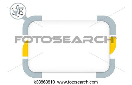 Clipart of Vector box to fill your text and radix icon k33863810.