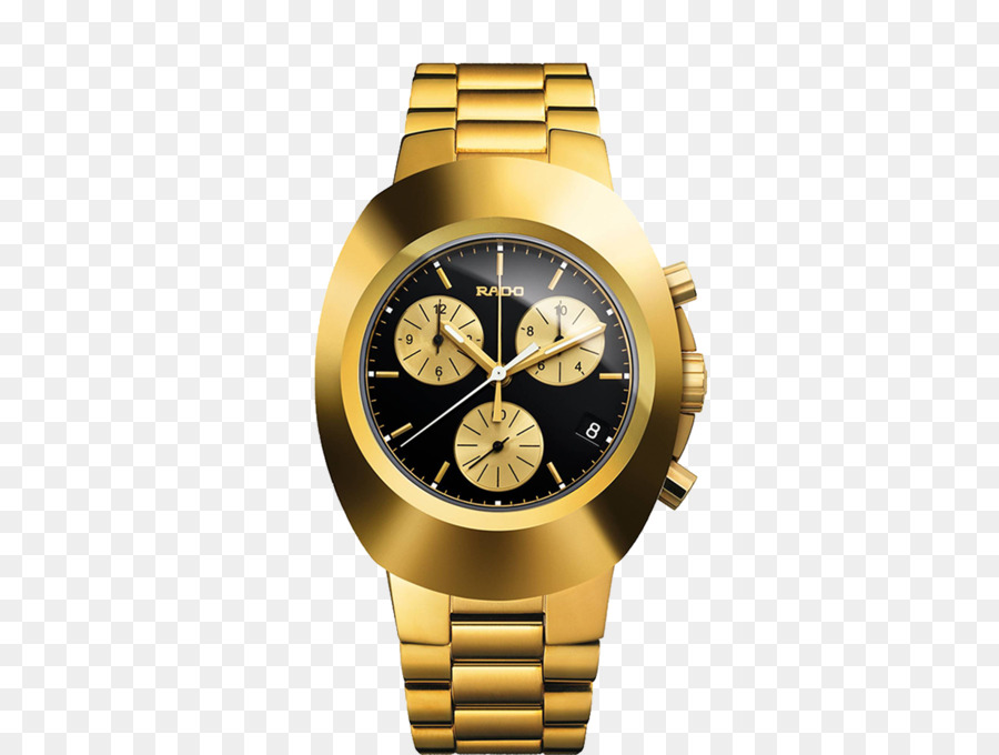 Gold Watch png download.