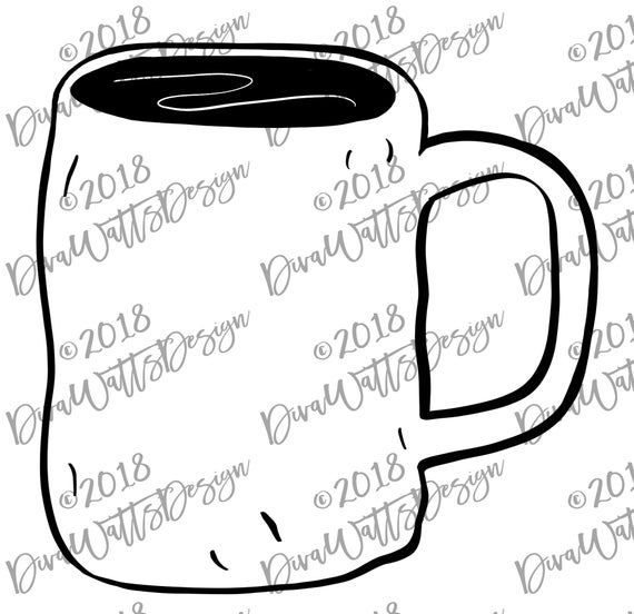 SVG Clipart Rae Dunn Mug Inspired Dimpled.