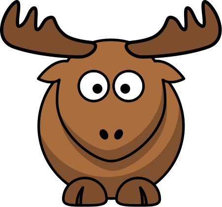Cute elk clipart.