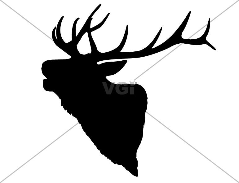 Bull elk clipart.