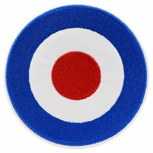 Details about Mod Target Iron On Patch Sew RAF Logo 60s Who Jam Retro  Scooter Roundel Sixties.