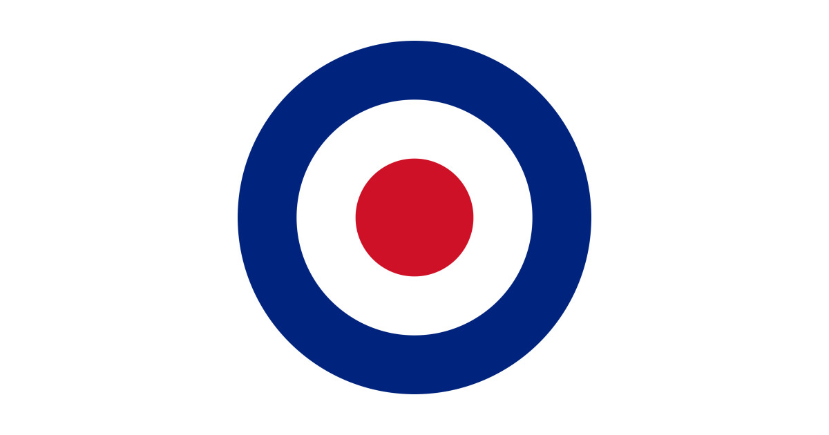 BRITISH MOD ROUNDEL RAF SHIRT DESIGN LOGO! by frenkmelk.
