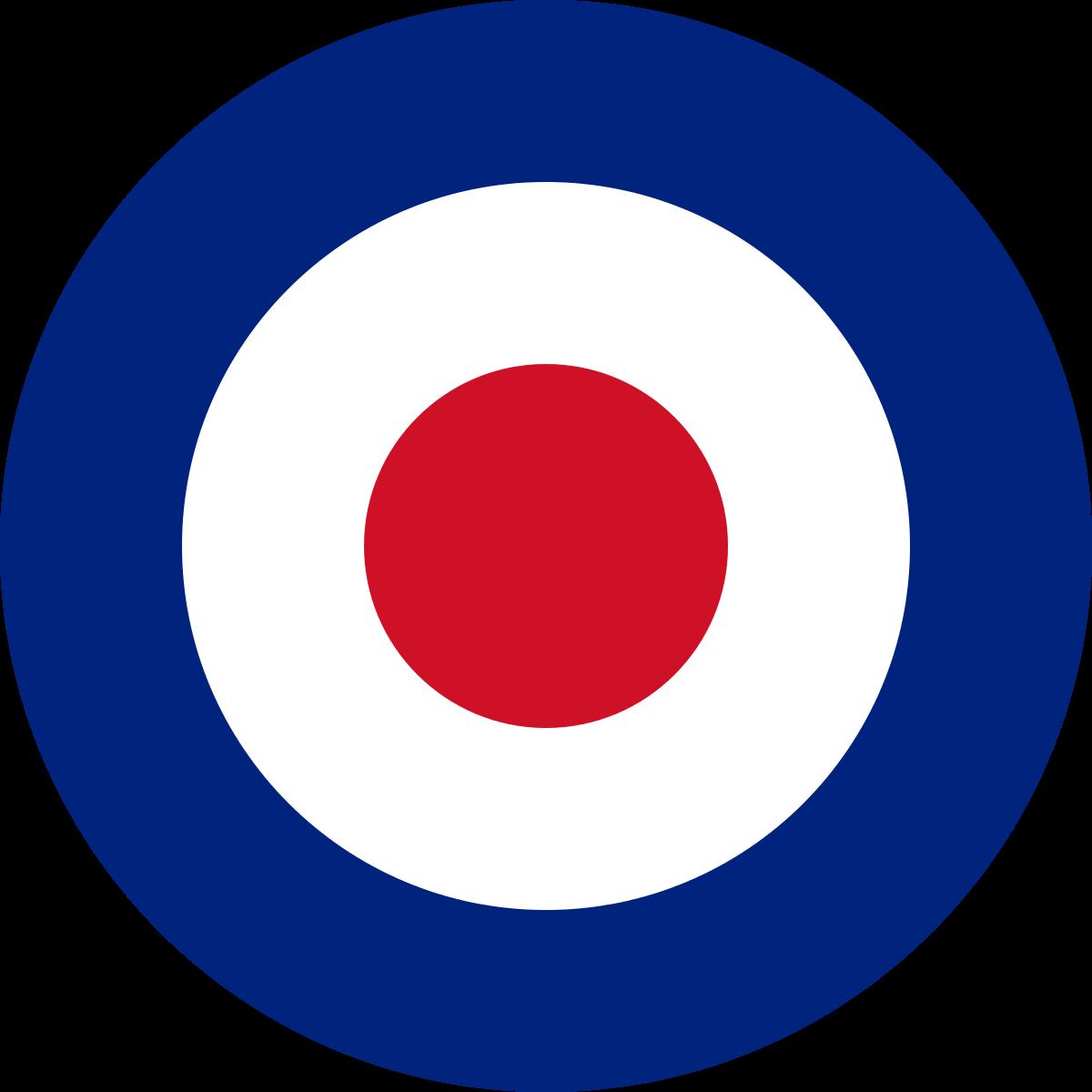 Royal Air Force roundels.