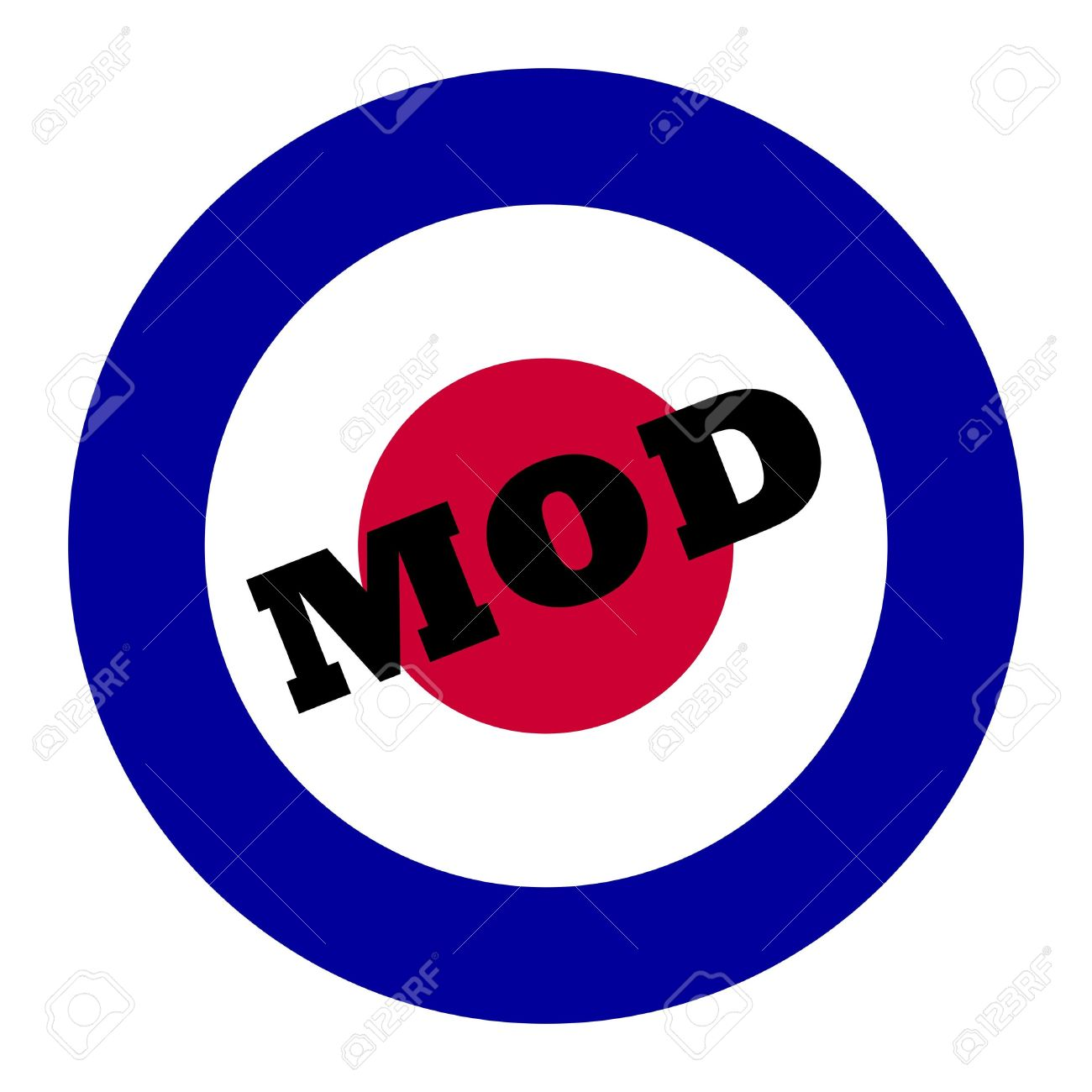 British Royal Air Force Roundel, Also Used As Symbol Of Mod Music.