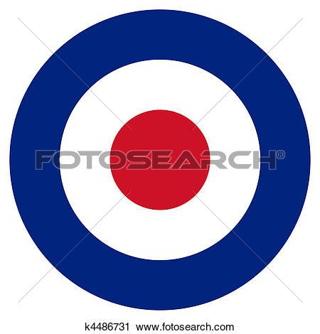 Clipart of RAF Roundel k4486731.