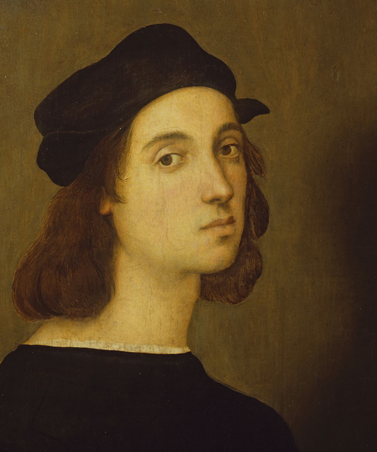 Autoritratti di Raffaello clip art.