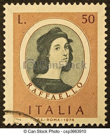 Archivi fotografici di raphael, francobollo.