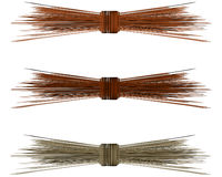 Raffia Straw Bows For Spring Royalty Free Stock Images.