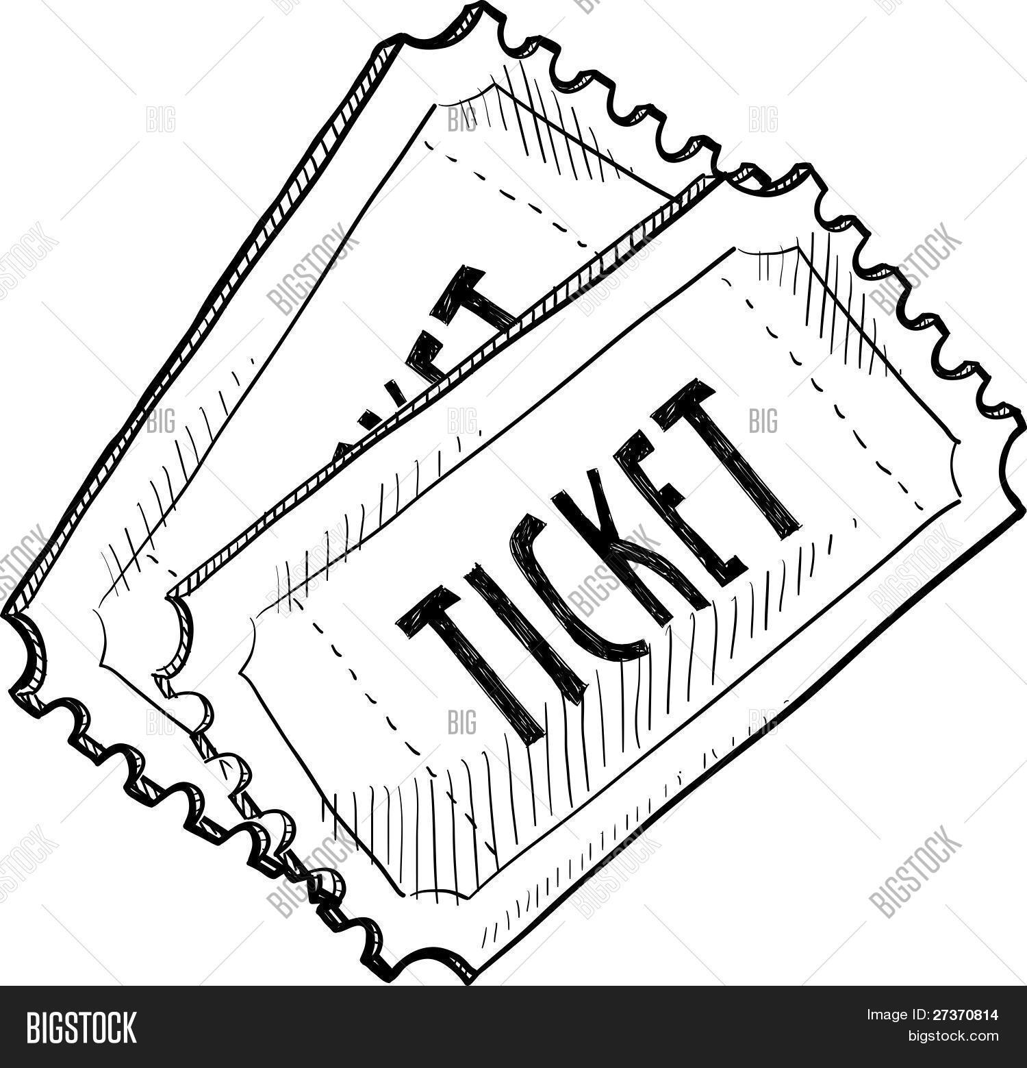 234 Raffle Ticket free clipart.