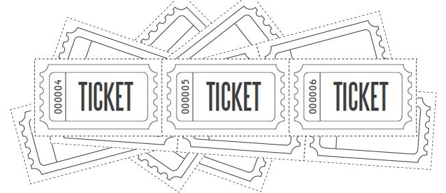 Raffle Ticket Clipart Black And White.