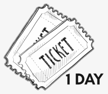 Free Ticket Black And White Clip Art with No Background.