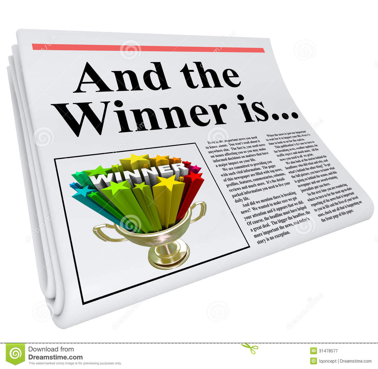 Announcing Winners Clipart.