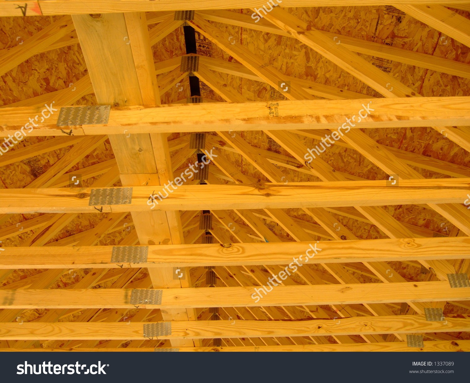 Wooden Rafters Stock Photo 1337089 : Shutterstock.