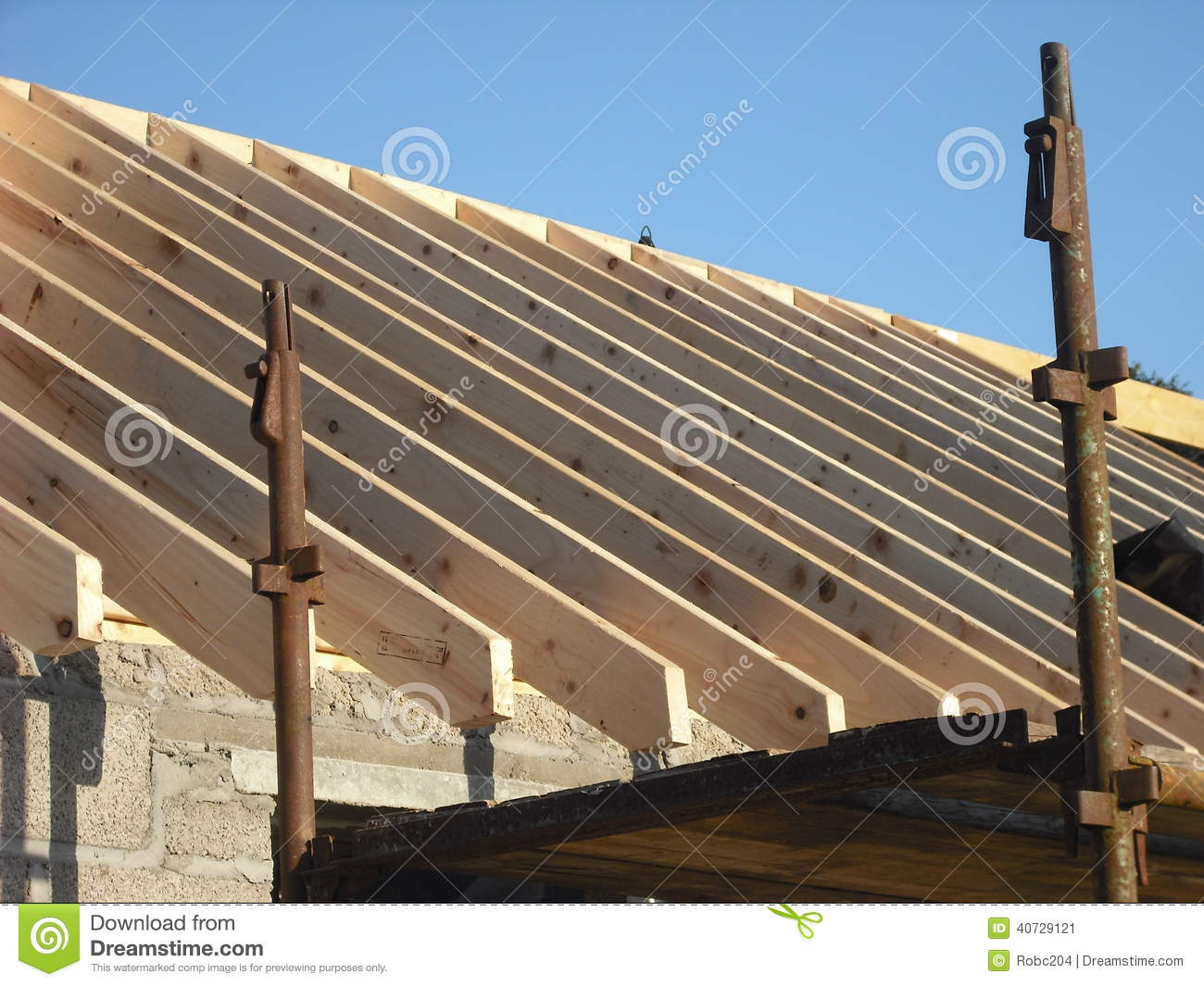Roof Ridge And Rafters Royalty Free Stock Photos.