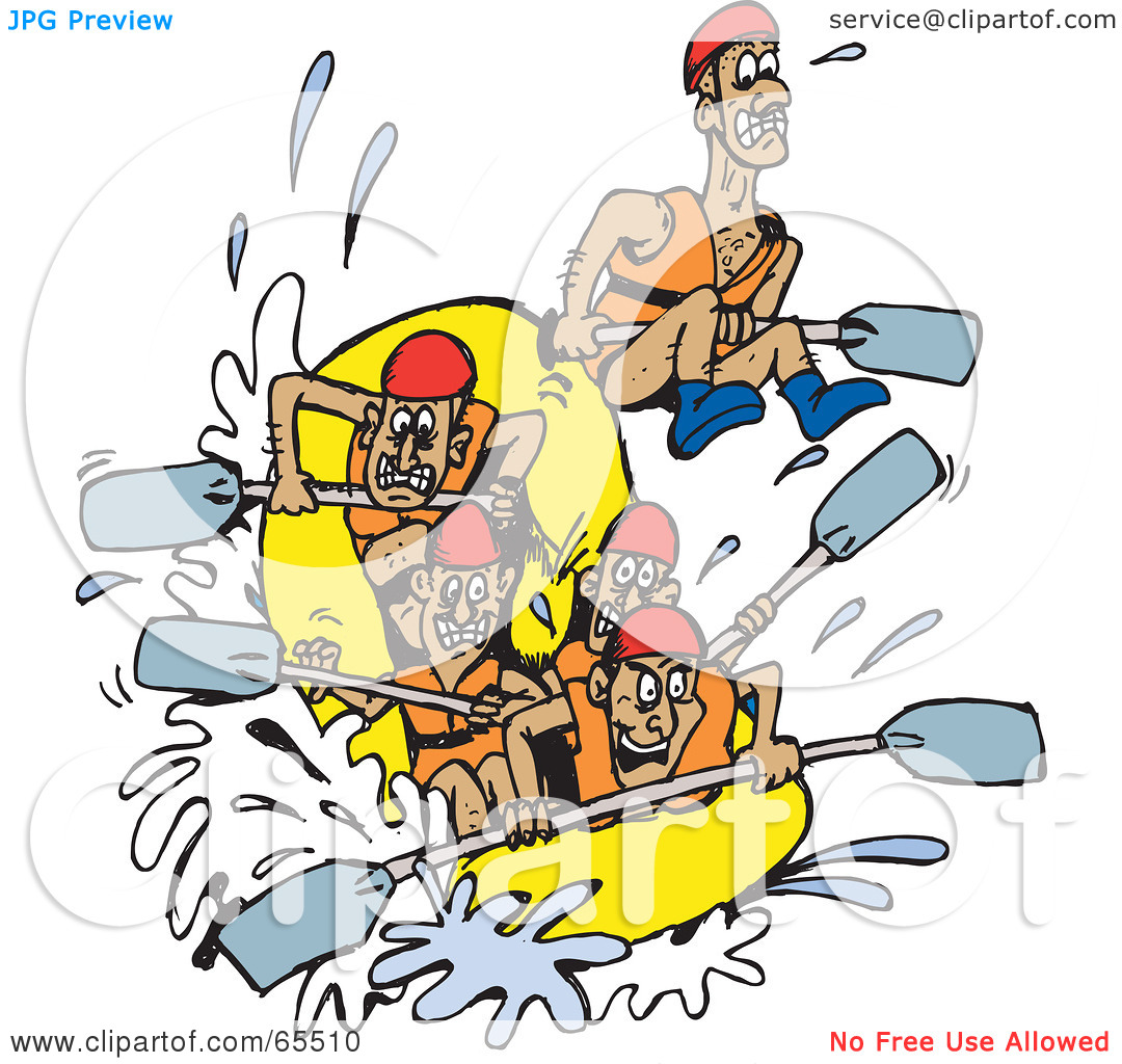 White water rafting clipart