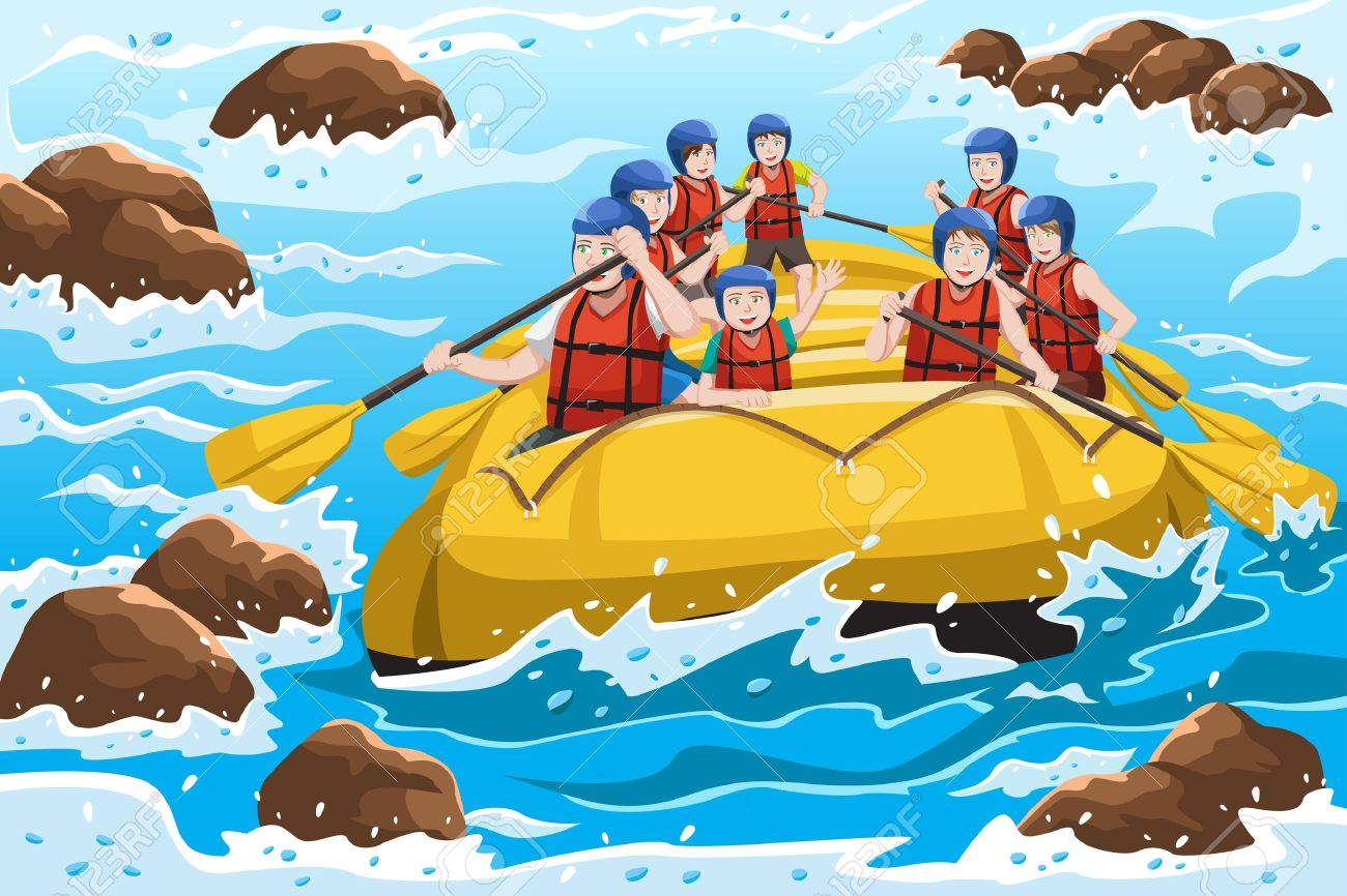 River rafting clipart 8 » Clipart Station.