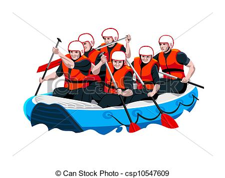 Whitewater Rafting Clipart.