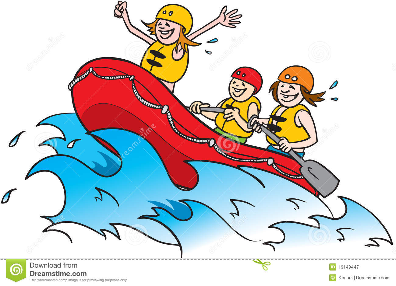 River Rafting Clipart.