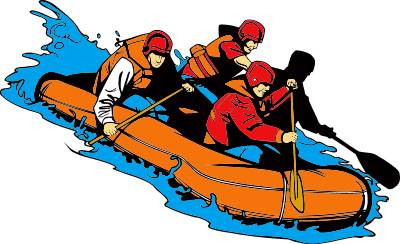 Free rafting Clipart.