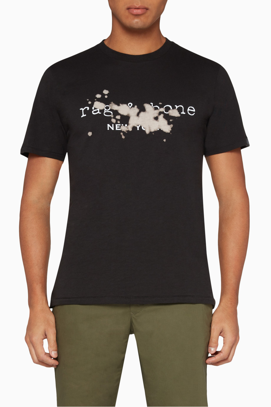 Shop Rag & Bone Black Bleach Logo T.