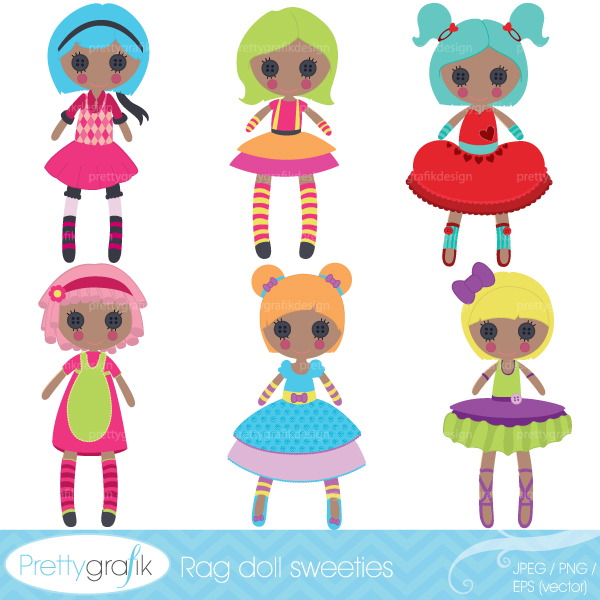 Rag doll toy clipart Rag doll toy clipart [CL459].