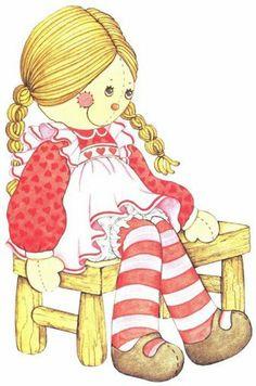 Cute rag doll clipart.