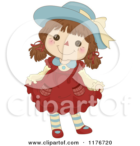 Cute Rag Doll Clipart.