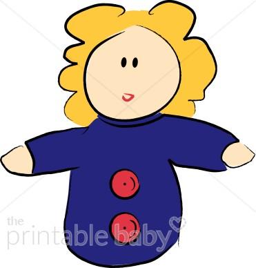 Cartoon Rag Doll Clipart.