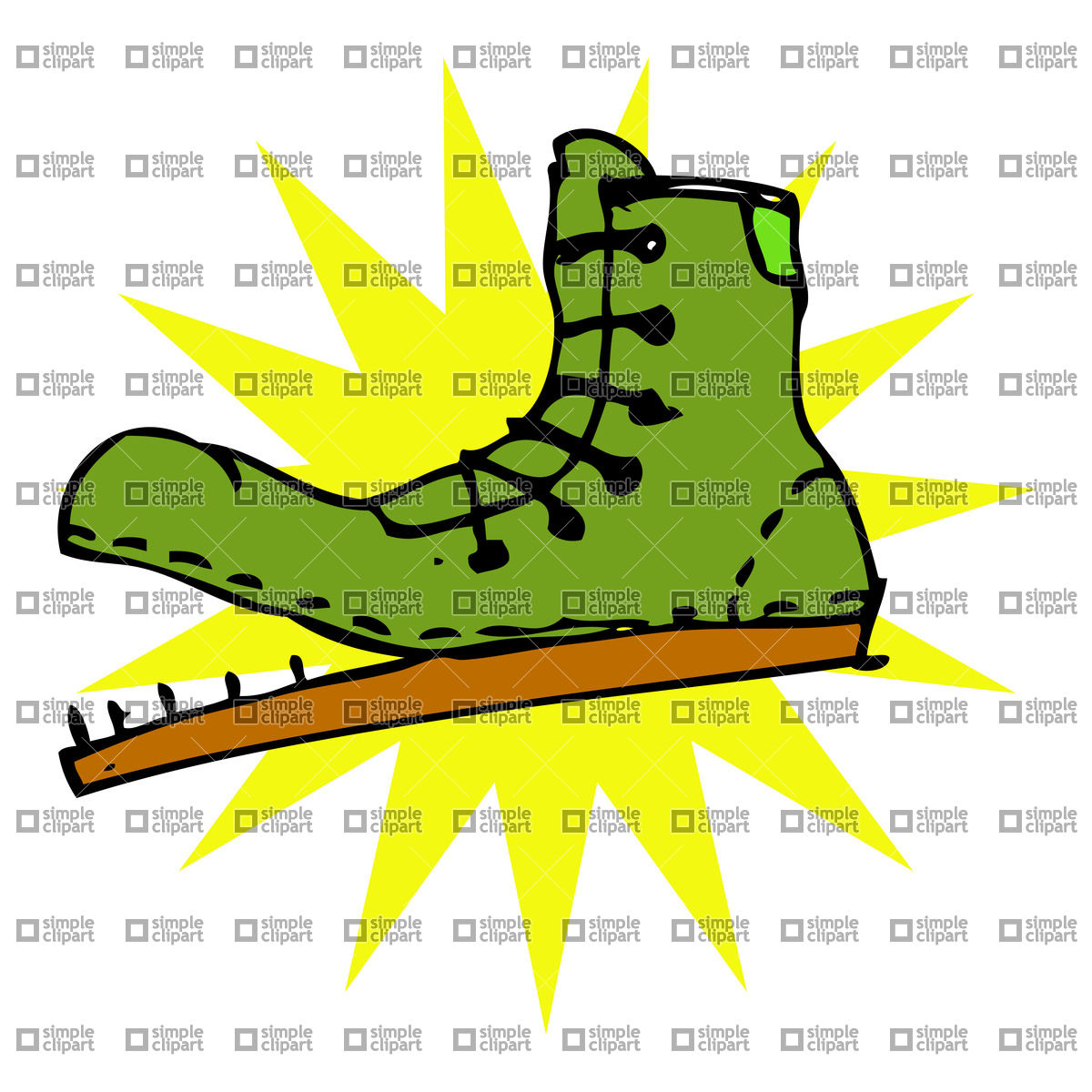 Cartoon icon with ragged boot Vector Image #21490.