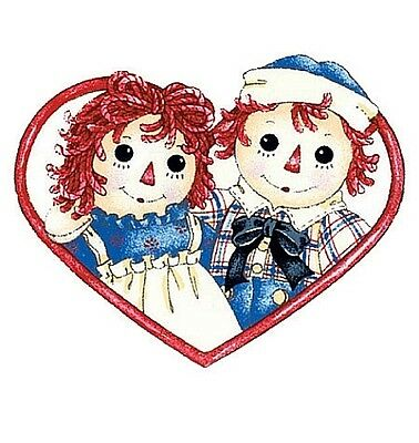 RAGGEDY ANN & ANDY wall stickers 5 prepasted decals ragdoll.