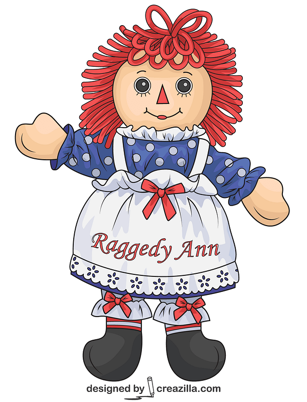 Raggedy Ann Doll vector. Free download..