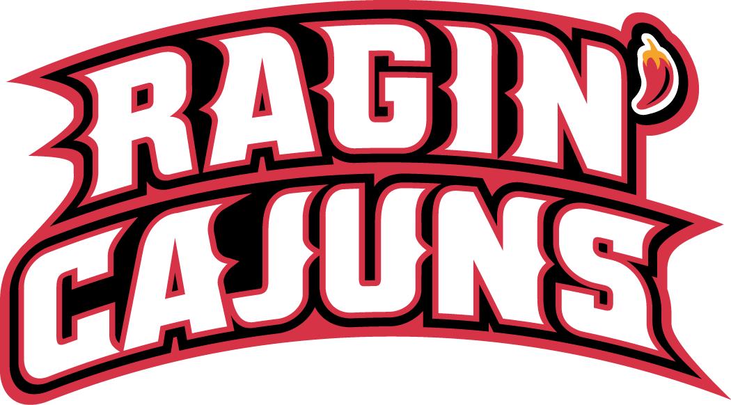 Louisiana Ragin Cajuns Wordmark Logo.