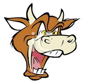 Raging bull clipart.