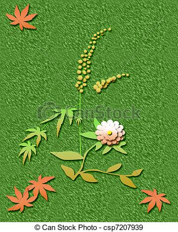 Stock Illustration of ragweed season.