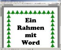 Rahmen: Mit Word oder Cliparts.