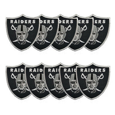 10 PCS OAKLAND Raiders Football Team DIY Badge Iron Sew on.