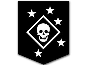 Details about 3x4 inch Black & White MARSOC Marine Raiders Skull and Stars  Logo Sticker.