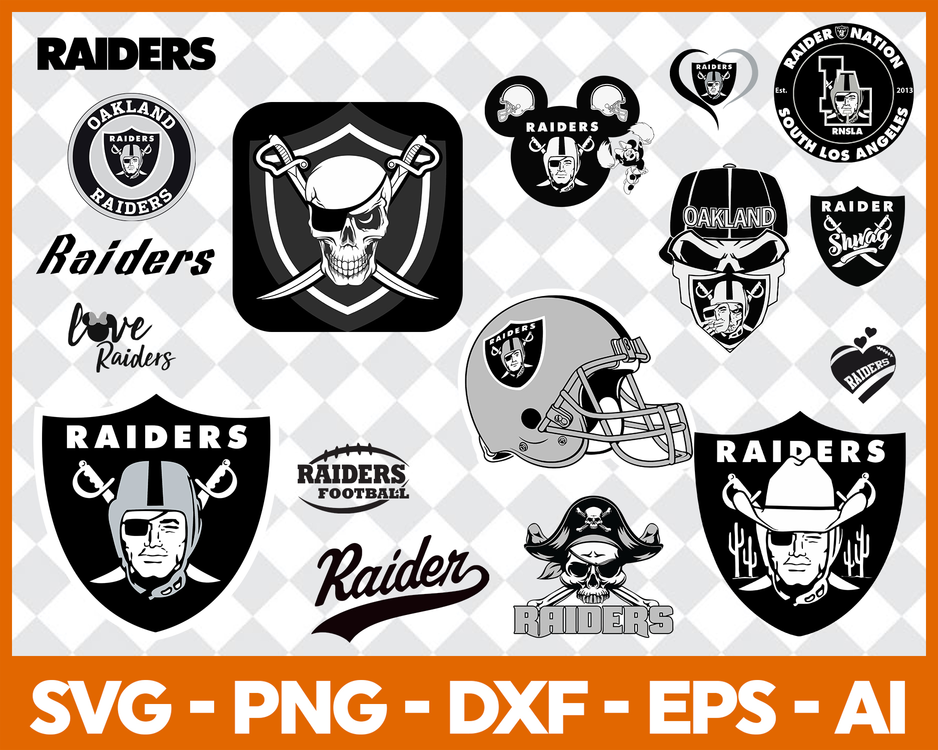 Oakland Raiders, Oakland Raiders svg, Oakland Raiders clipart, Oakland  Raiders logo, Oakland Raiders cricut.