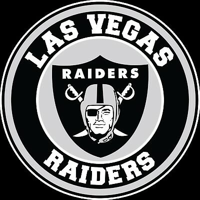 LAS VEGAS RAIDERS Circle Logo Vinyl Decal / Sticker 10 sizes.
