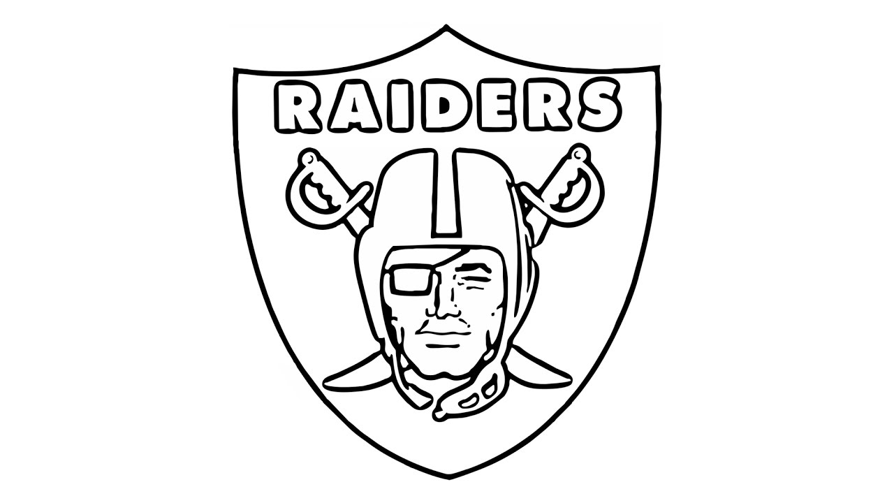 How to Draw the Oakland Raiders Logo (NFL).