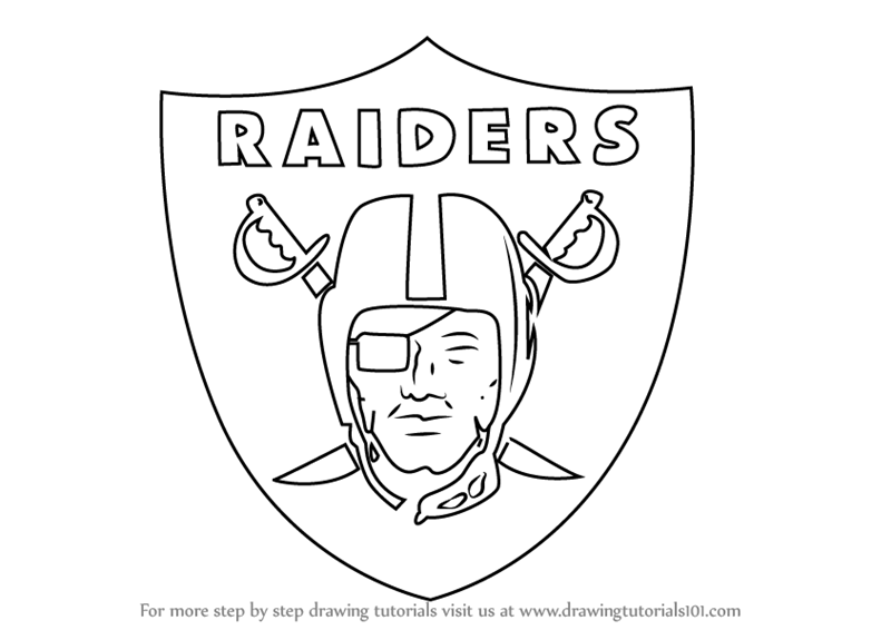 Learn How to Draw Oakland Raiders Logo (NFL) Step by Step.